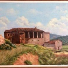 Arte: URBANO (SANT LLORENÇ SAVALL), OLEO EN LIENZO, 72X53 CM MÁS MARCO.. Lote 130564803
