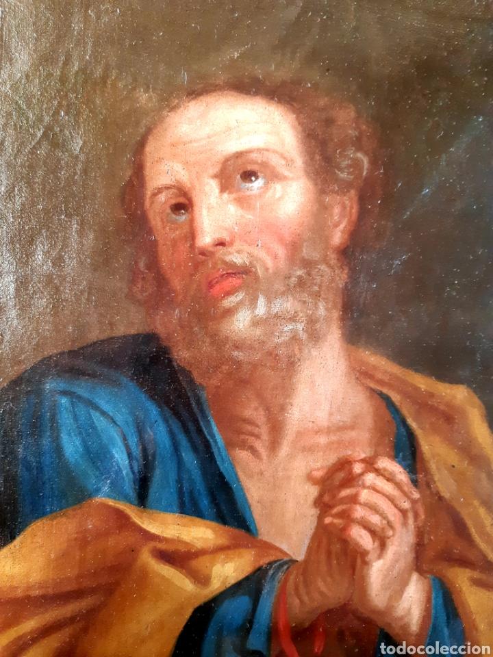 Arte: Óleo sobre lienzo del siglo XVIII representando a San Pedro - Foto 15 - 123099371