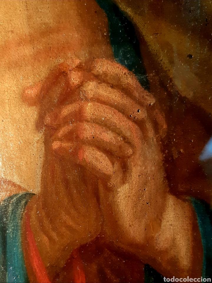 Arte: Óleo sobre lienzo del siglo XVIII representando a San Pedro - Foto 21 - 123099371