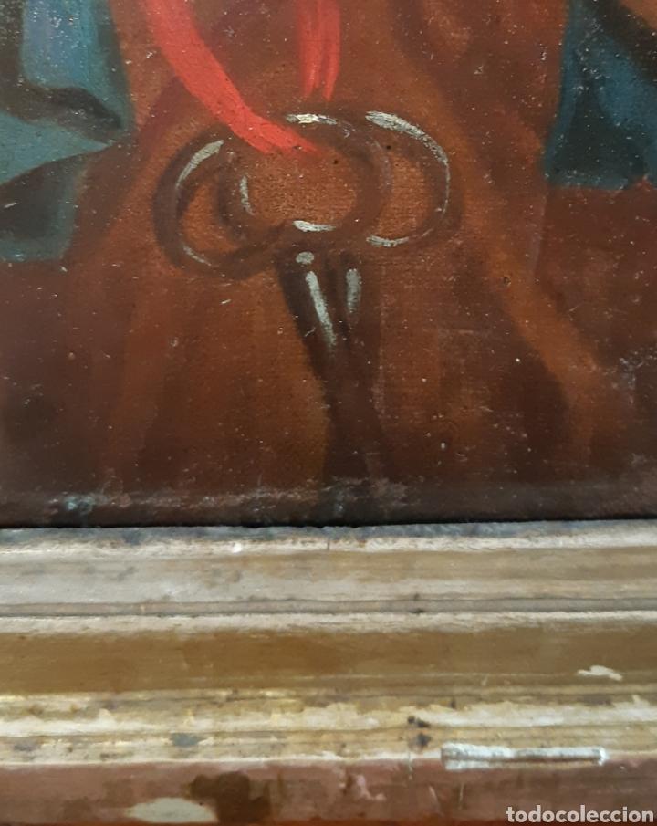Arte: Óleo sobre lienzo del siglo XVIII representando a San Pedro - Foto 22 - 123099371