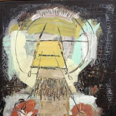 Arte: JOAN CRUSPINERA (TIANA, BARCELONA, 1945) OLEO SOBRE TELA. SIN TITULO. 195 CM. X 130 CM.. Lote 130779340