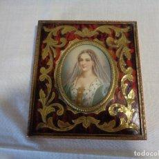 Arte: MINIATURA PINTADA SOBRE MARFIL SIGLO XVIII. Lote 130781208