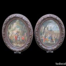 Arte: DOS ESCENAS DEL QUIJOTE, ESCUELA FRANCESA DEL S.XVIII. Lote 130800812