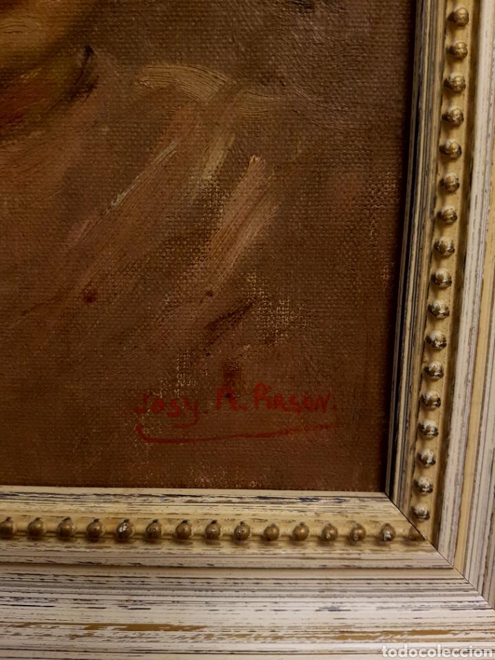 Arte: Josy A. PIRSON (1911-1979) oleo sobre lienzo, retrato de niña, 36x42cm (enmarcado) - Foto 4 - 130855144