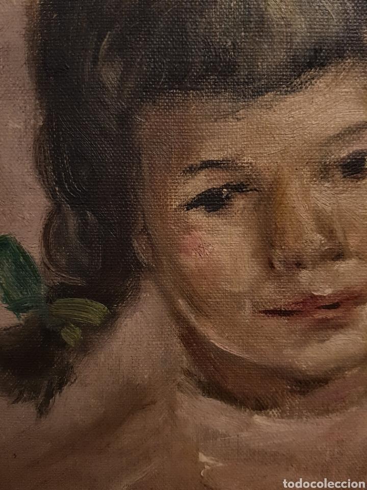 Arte: Josy A. PIRSON (1911-1979) oleo sobre lienzo, retrato de niña, 36x42cm (enmarcado) - Foto 5 - 130855144