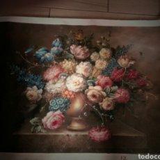 Arte: OLEO DE FLORES 90 POR 60 ENVIO..SIN MARCOS. Lote 130911084