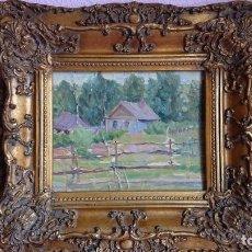 Arte: ÓLEO SOBRE CARTÓN ESCUELA RUSA 1900. Lote 130931348