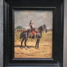 Arte: EXTRAORDINARIO CORACERO A CABALLO, ESCUELA FRANCESA S. XIX. Lote 130939052