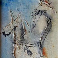 Arte: PRECIOSA PINTURA VINTAGE, QUIJOTE ? FIRMADA (ILEGIBLE).. Lote 131043432
