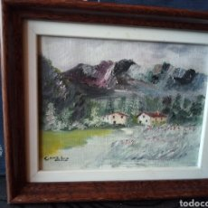 Arte: PEQUEÑO CUADRO FIRMA GONZALEZ,PAISAJE. Lote 131095292