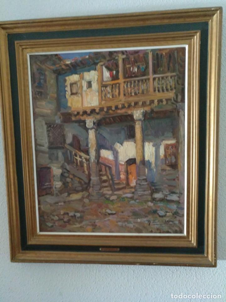 PATIO SEGOVIANO POR R. ESTALELLA (Arte - Pintura - Pintura al Óleo Contemporánea )