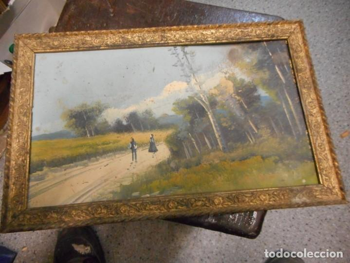 ANTIGUO OLEO SIN FIRMA PROCEDENCIA CATALUÑA (Arte - Pintura - Pintura al Óleo Moderna siglo XIX)