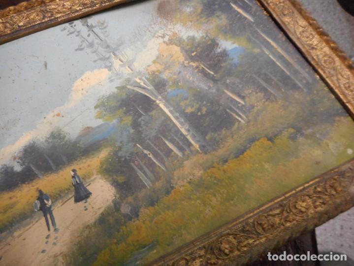 Arte: antiguo oleo sin firma procedencia cataluña - Foto 3 - 131184912