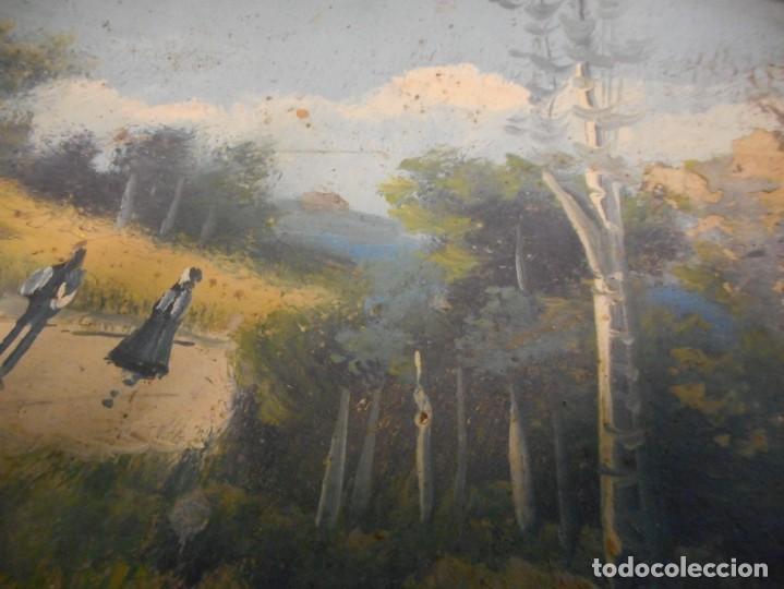 Arte: antiguo oleo sin firma procedencia cataluña - Foto 5 - 131184912
