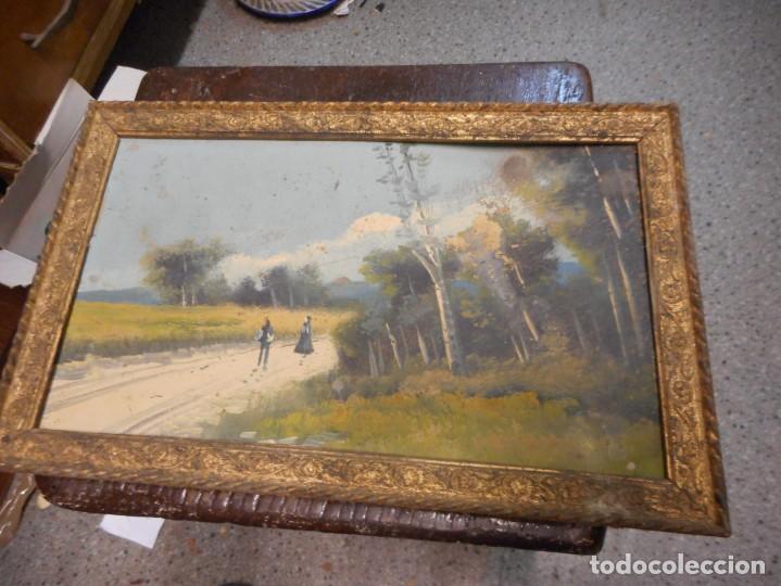 Arte: antiguo oleo sin firma procedencia cataluña - Foto 7 - 131184912
