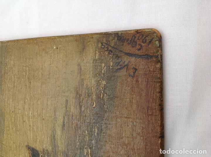 Arte: Óleo sobre tabla. 1902 - Foto 2 - 131388758