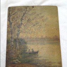 Arte: ÓLEO SOBRE TABLA. 1902. Lote 131388758