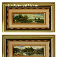 Arte: K.HARRISON - ORIGINAL FORMATO Y CUIDADA ENMARCACIÓN - DOS CUADROS DE ÓLEO SOBRE TABLERO.. Lote 131439478