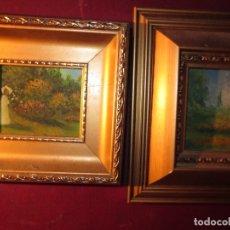 Arte: PAREJA DE OLEOS PINTURA IMPRESIONISMO DOS CUADROS. Lote 130026915