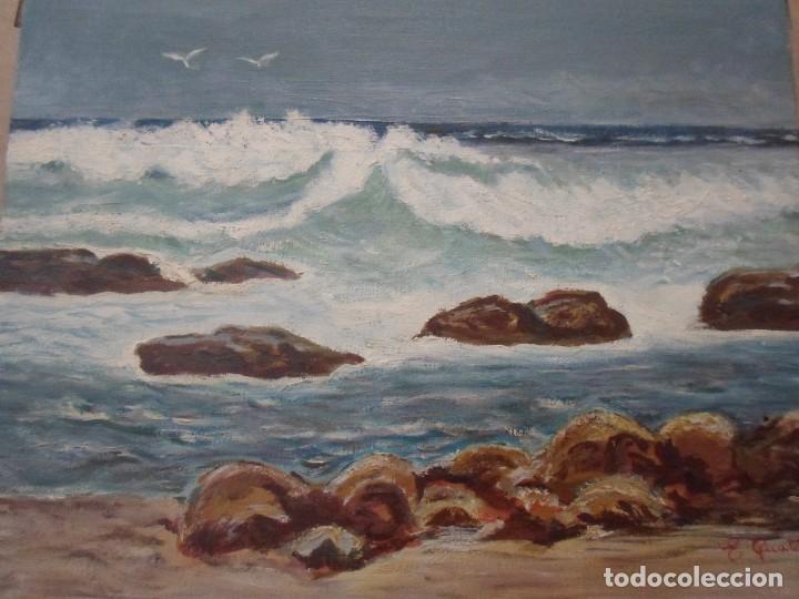OLEO MARINA. FIRMADO (Arte - Pintura - Pintura al Óleo Contemporánea )