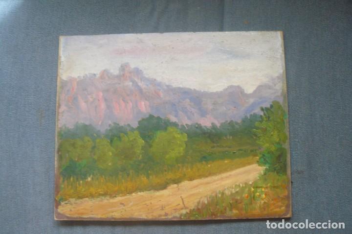 OLEO SOBRE CART{ON - ANÓNIMO - CIMS DE CAN ROBERT - 1968 (Arte - Pintura - Pintura al Óleo Contemporánea )