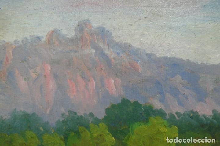 Arte: OLEO SOBRE CART{ON - ANÓNIMO - CIMS DE CAN ROBERT - 1968 - Foto 2 - 131566714