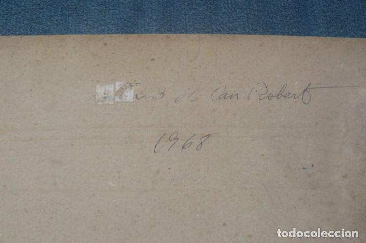 Arte: OLEO SOBRE CART{ON - ANÓNIMO - CIMS DE CAN ROBERT - 1968 - Foto 6 - 131566714