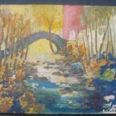 Arte: OLEO / TABLEX - ANÓNIMO - PAISAJE RURAL. Lote 131568282