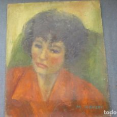 Arte: OLEO / TABLEX FDO M GARCÉS - ROSTRO FEMENINO. Lote 131623606