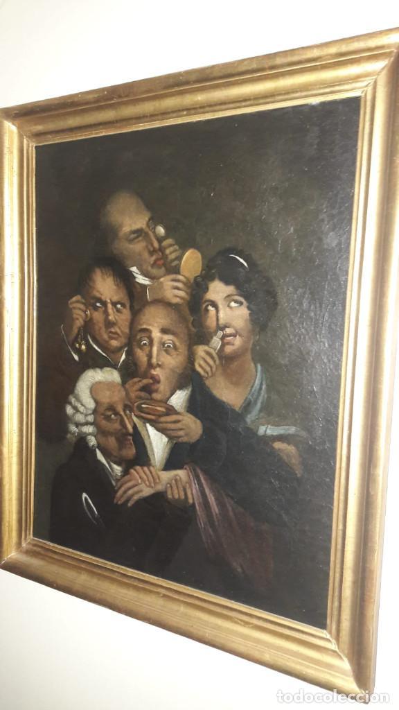 OLEO SOBRE LIENZO,ESCUELA INGLESA, S. XVIII (Arte - Pintura - Pintura al Óleo Antigua siglo XVIII)