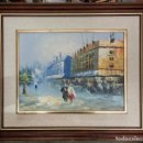 Arte: LIENZO SOBRE TABLILLA , AL OLEO, ENMARCADO, FIRMADA ( SALINAS ) . ESCENA PARISIEN. SIGLO XX. Lote 131691962