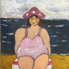 Arte - banista en la playa - 131717786