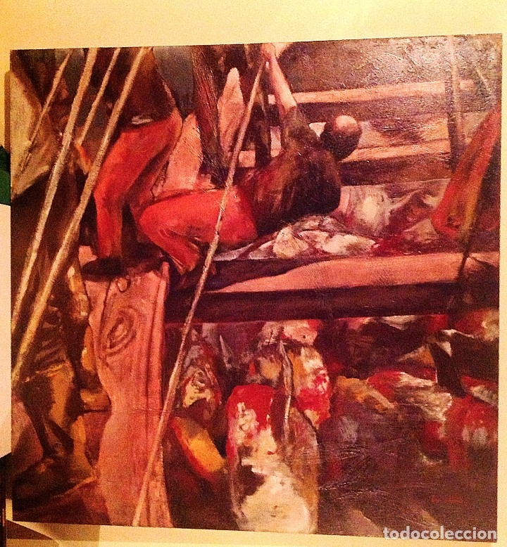 Arte: Cuadro Óleo La Pesca Del Atún / Pintor Ricardo Parabêre Medidas 117X 82CM - Foto 4 - 37713937