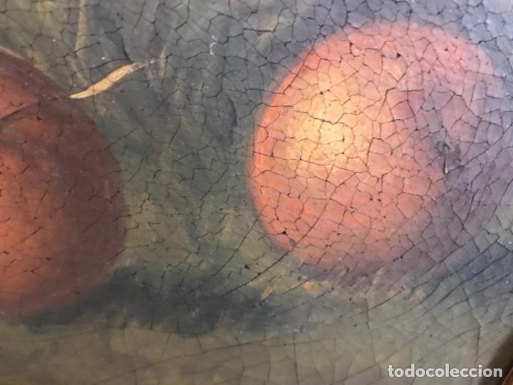 Arte: Bodegón siglo XIX con paisaje firma ilegible - Foto 2 - 131947378