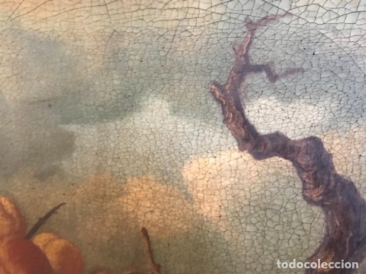 Arte: Bodegón siglo XIX con paisaje firma ilegible - Foto 5 - 131947378