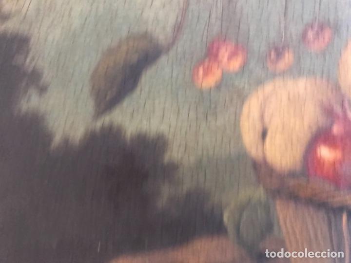 Arte: Bodegón siglo XIX con paisaje firma ilegible - Foto 11 - 131947378