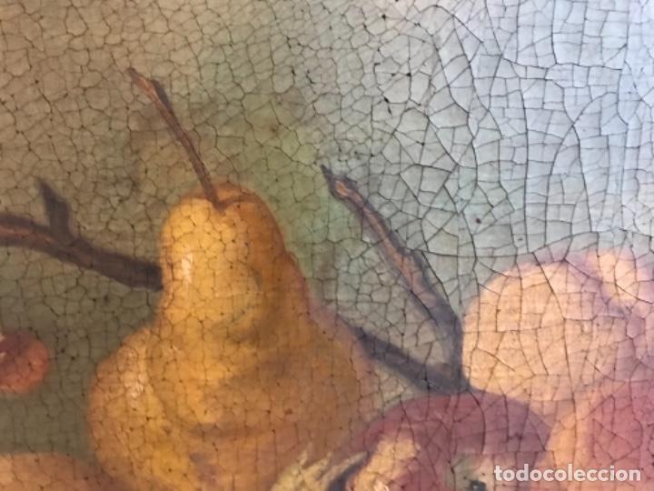 Arte: Bodegón siglo XIX con paisaje firma ilegible - Foto 13 - 131947378