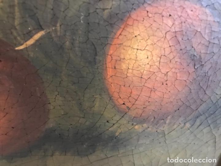 Arte: Bodegón siglo XIX con paisaje firma ilegible - Foto 14 - 131947378