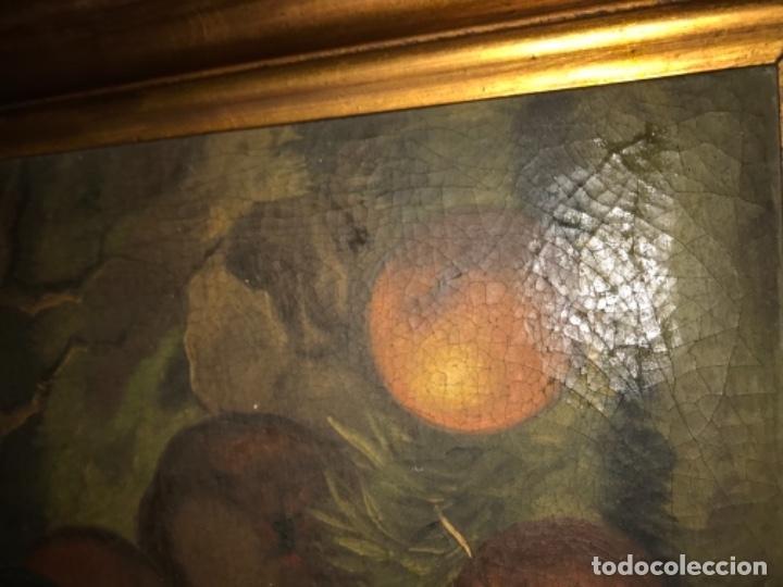 Arte: Bodegón siglo XIX con paisaje firma ilegible - Foto 17 - 131947378