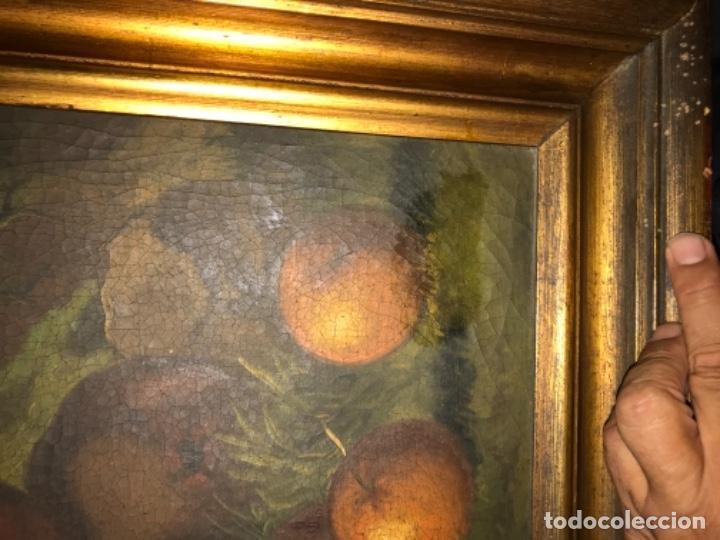 Arte: Bodegón siglo XIX con paisaje firma ilegible - Foto 18 - 131947378