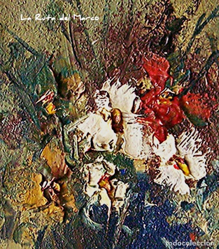 Arte: Cuadro de óleo sobre Tablero - Jarrón con Flores - Firmado - Foto 3 - 132005590