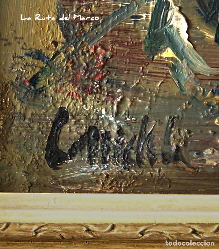 Arte: Cuadro de óleo sobre Tablero - Jarrón con Flores - Firmado - Foto 4 - 132005590