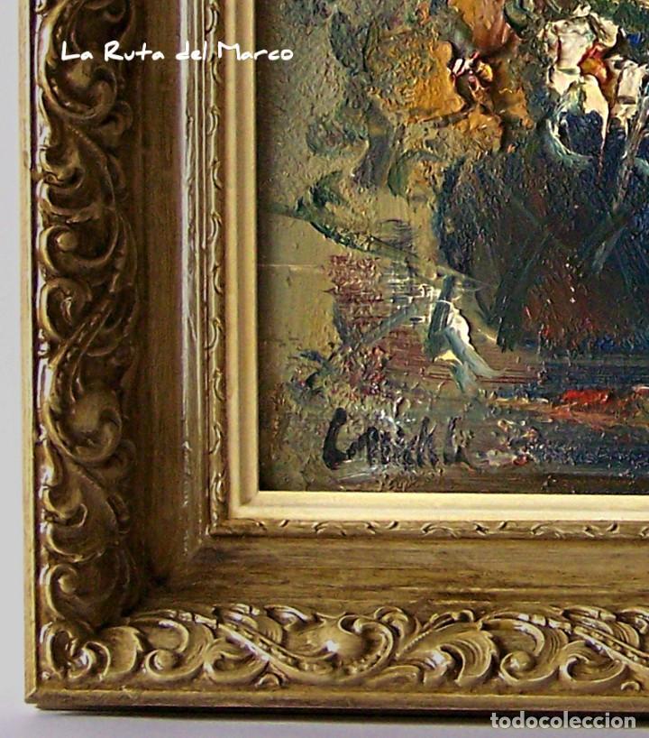 Arte: Cuadro de óleo sobre Tablero - Jarrón con Flores - Firmado - Foto 6 - 132005590