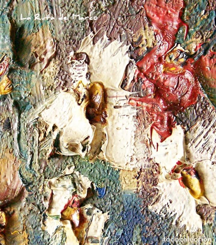 Arte: Cuadro de óleo sobre Tablero - Jarrón con Flores - Firmado - Foto 7 - 132005590