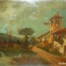 Arte: OLEO SOBRE TABLEX - ANONIMO - PAISAJE RURAL. Lote 132205826