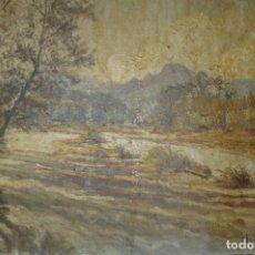 Arte: OLEO / TABLEX - FIRMA J LAGO - PAISAJE RURAL. Lote 132206642