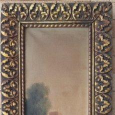 Arte: URGELLES(SXIX).PAISAJE CON MASÍA.ESCALETA.OLEO/TELA.FIRMADO. Lote 132211639