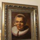 Arte: OLEO RETRATO DE SEÑORA CON PAÑOLETA Y CUELLO CERVANTINO, ROBUSTO MARCO DE MADERA, MEDIDA:66X56. Lote 108279943