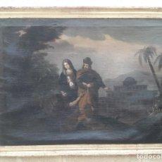 Arte: PINTURA DE EPOCA XVIII LA HUIDA DE EGIPTO. Lote 132273218