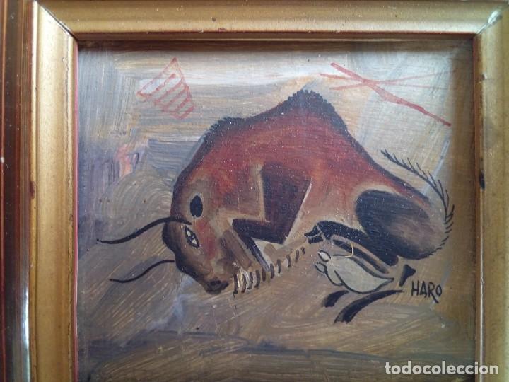 Arte: LOTE DE 3 CUADROS MINIATURAS REALIZADOS AL OLEO. - Foto 6 - 132323518